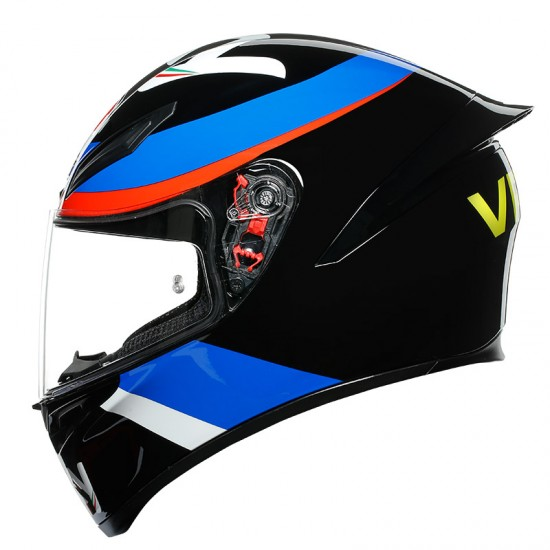 AGV K1 VR46 Sky Racing Team Black Red Full Face Helmet