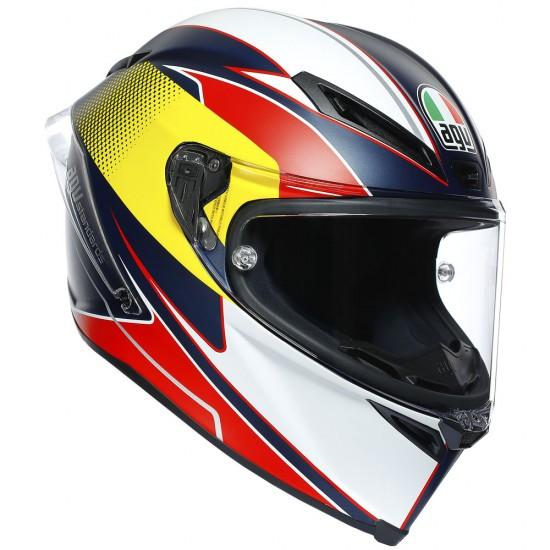AGV Corsa R Multi Supersport Blue Red Yellow Full Face Helmet