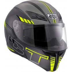 AGV Compact ST Seattle Matt Black Silver Yellow Fluo Multi Helmet
