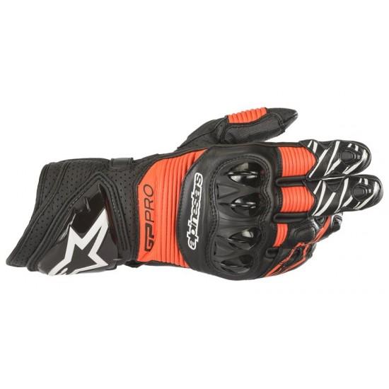 Alpinestars GP Pro R3 Gloves - Black Red Fluo