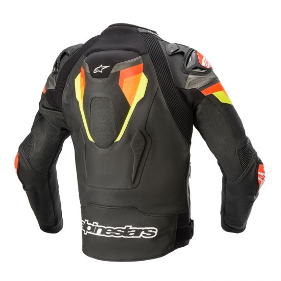 Alpinestars Atem V4 Leather Jacket - Black Red Fluo Yellow Fluo