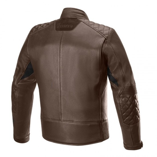 Alpinestars Hoxton V2 Leather Jacket - Brown