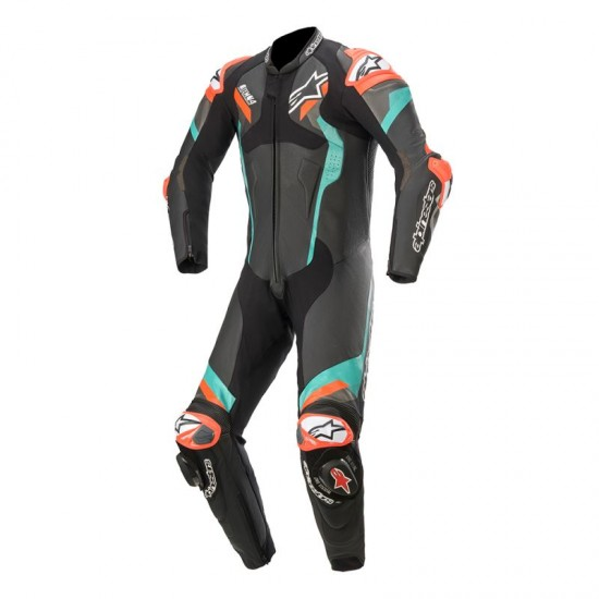 Alpinestars Atem V4 1PC Leather Suit - Black Petrol Red Fluo