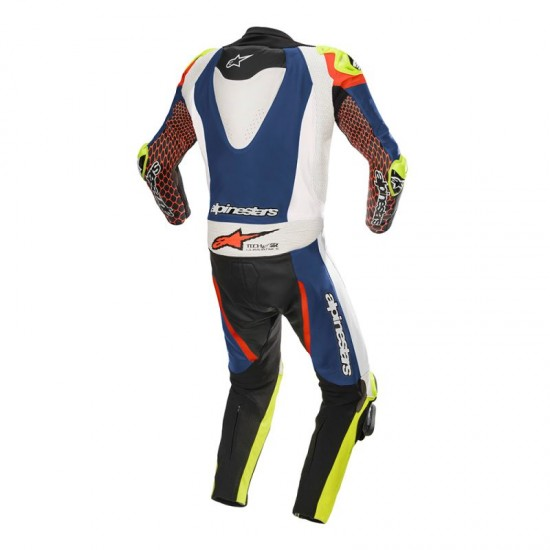 Alpinestars GP Tech V3 Tech-air Compatible 1Pc Suit -Blue White Red
