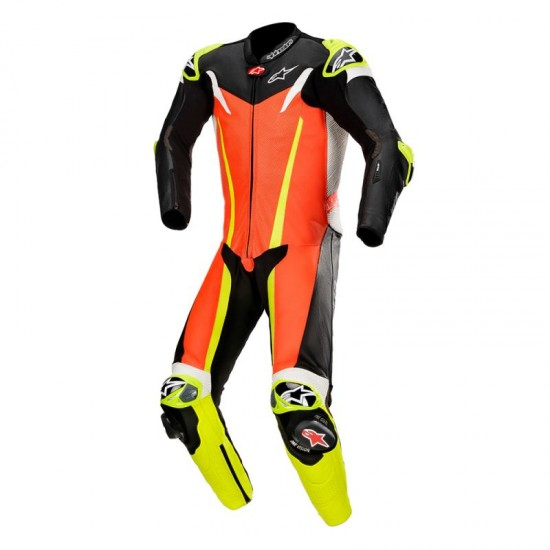 Alpinestars GP Tech V3 Tech-air Compatible 1Pc Suit -Red Fluo Black Yellow