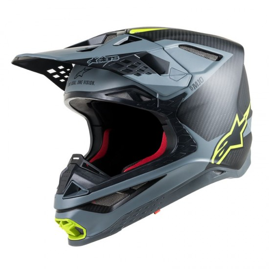 Alpinestars Supertech S-M10 Meta Ece Black Gray Yellow Fluo Off Road Helmet