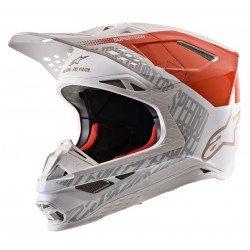 Alpinestars Supertech S-M8 Triple Ece Orange Fluo White Gold M&G Off Road Helmet