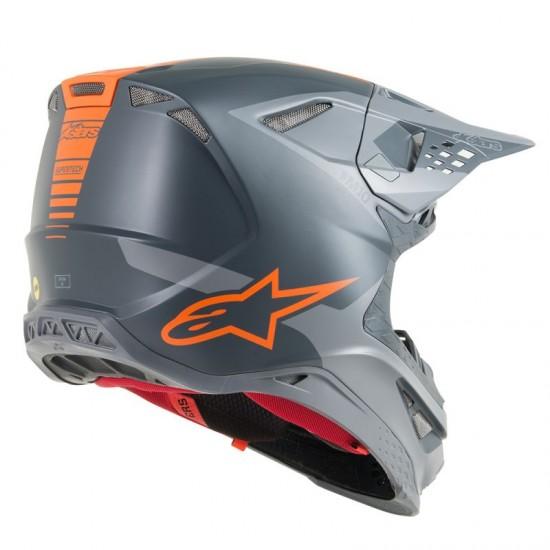 Alpinestars Supertech S-M10 Meta Ece Anthracite Gray Orange Fluo Off Road Helmet