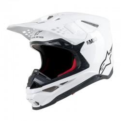 trick Alpinestars Supertech S-M10 Solid Ece White Glossy Off Road Helmet