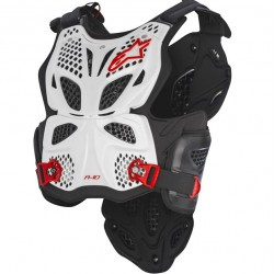 Alpinestars A-10 Chest Protector - White Black Red Online India