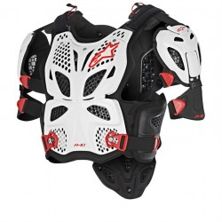Alpinestars A-10 Full Chest Protector - White Black Red Online India