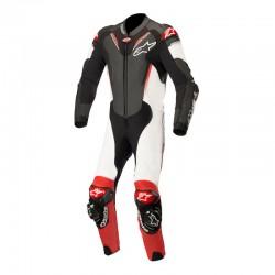 Alpinestars Atem V3 1 Piece Leather Black White Red Suit