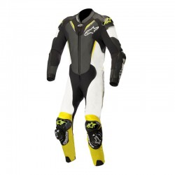 Alpinestars Atem V3 1 Piece Leather Black White Yellow Fluo Suit