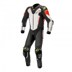 Alpinestars Atem V3 1 Piece Leather Black White Yellow Red Suit