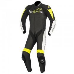 Alpinestars Challenger V2 1 Piece Leather Black White Yellow Fluo Suit