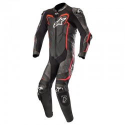 Alpinestars GP Plus Camo 1 Piece Leather Black Camo Red Fluo Suit