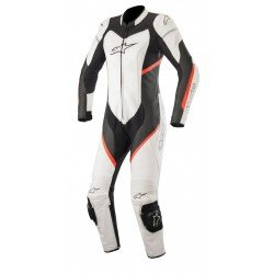 Alpinestars Stella Kira 1Pc Leather Black White Red Fluo Suit