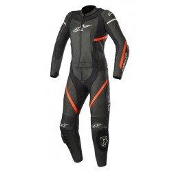 Alpinestars Stella Kira 2Pc Leather Black Red Fluo Suit