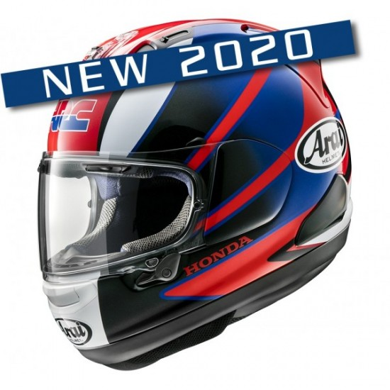 Arai RX-7V Honda CBR Red Full Face Helmet
