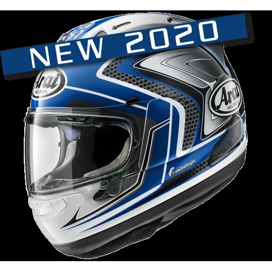 Arai RX-7V Racing Blue Gray Full Face Helmet