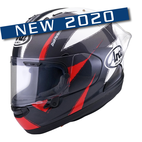 Arai RX-7V Racing Red Black White Full Face Helmet