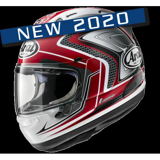 Arai RX-7V Racing Red Gray Full Face Helmet