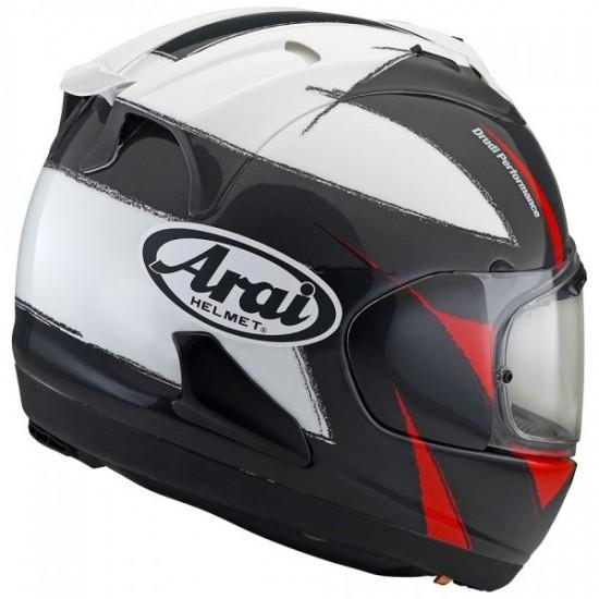 Arai RX-7V Sign Black White Red Full Face Helmet