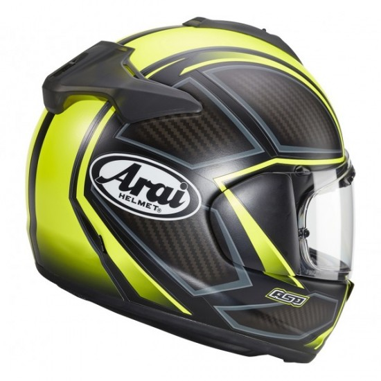 Arai Chaser-X Spine Fluor Yellow Full Face Helmet