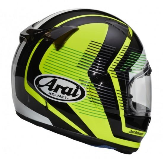 Arai Profile-V Impulse Yellow Full Face Helmet