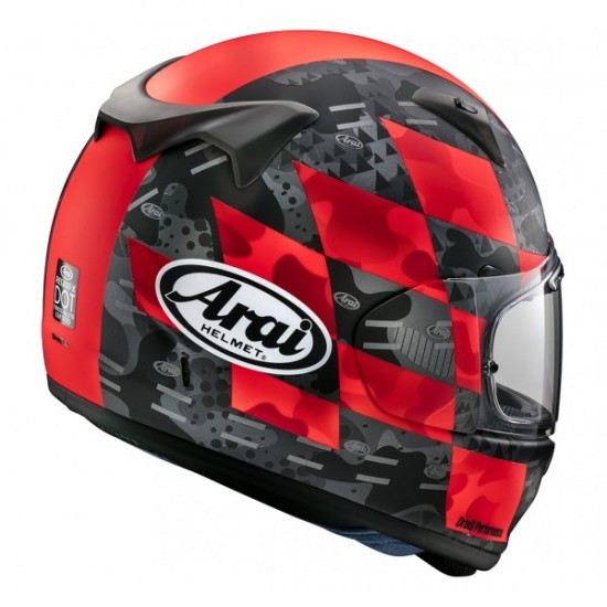Arai Profile-V Patch Red Matt Full Face Helmet
