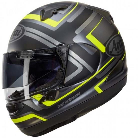Arai QV-PRO Charged Yellow Full Face Helmet