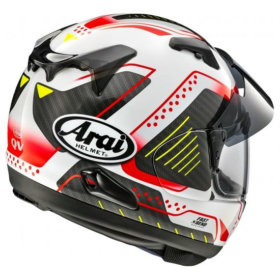 Arai QV-Pro Drone Red Full Face Helmet
