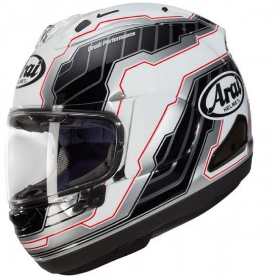 Arai RX-7V Mamola Edge White Full Face Helmet
