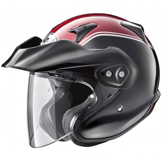 Arai CT-F Gold Wing Red Open Face Helmet