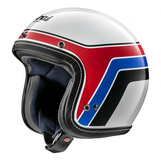 Arai Urban-V Blitz White Open Face Helmet