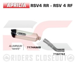Arrow Race-Tech Aluminium Silencer With Carbon Cap Aprilia Tuono V4 / RSV4 MPN - 71627KZ + 71744AKB