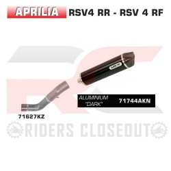 Arrow Race-Tech Aluminium Dark Silencer Aprilia Tuono V4 / RSV4 MPN - 71627KZ + 71744AKN
