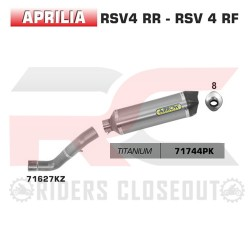 Arrow Race-Tech Titanium Silencer With Carbon Cap Aprilia Tuono V4 / RSV4 MPN - 71627KZ + 71744PK