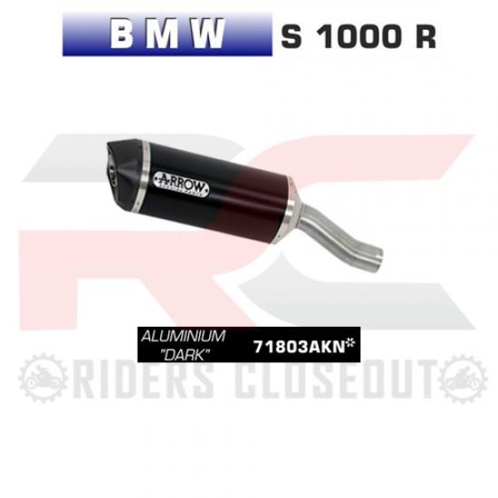 Arrow Race-Tech Aluminium Dark Silencer For Stock Collectors BMW S 1000 R MPN - 71803AKN