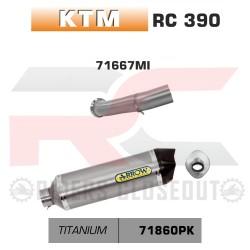 Arrow Thunder Titanium Silencer With Carbon End Cap KTM RC 390 MPN - 71667MI + 71860PK