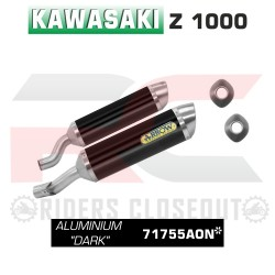 Arrow Aluminium Dark Thunder Silencer Kawasaki Z1000 MPN - 71755AON