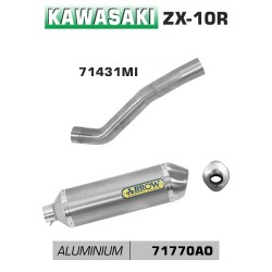 Arrow Race-Tech Aluminium Silencer Kawasaki Ninja ZX-10R MPN - 71431MI + 71770AO