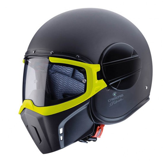 Caberg Ghost Fluo Matt Black Yellow Jet Helmet