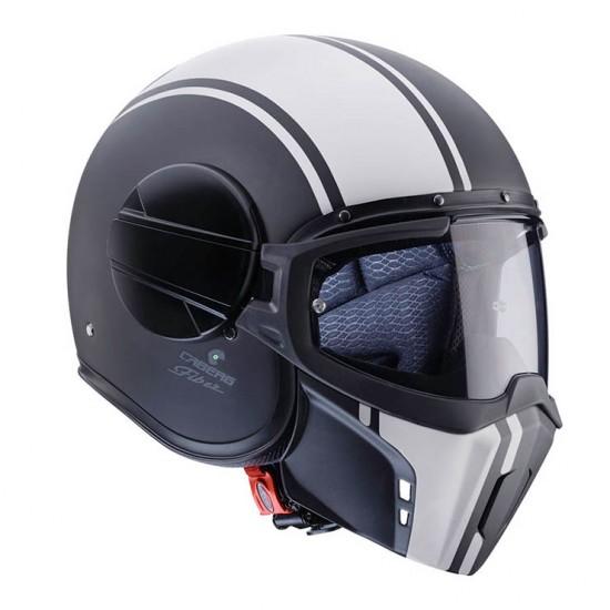 Caberg Ghost Legend Matt Black White  Jet Helmet