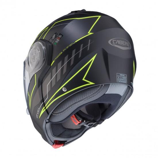 Caberg Droid Blaze Matt Black Yellow Modular Helmet