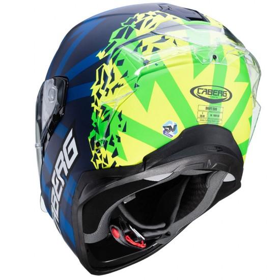Caberg Drift Evo Storm Blue Yellow Full Face helmet Online India
