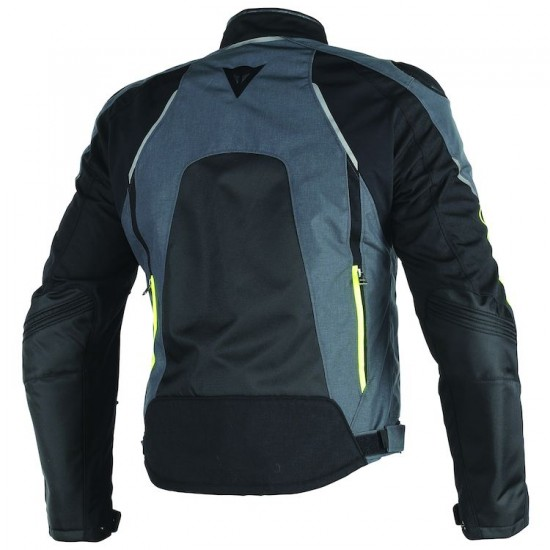 Dainese D-Dry Jacket - Hawker Black Ebony Fluo Yellow