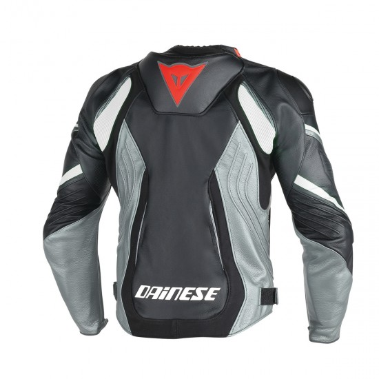 Dainese Perforated Leather Jacket - Super Speed D1 Black Anthracite White