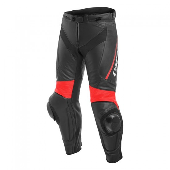 Dainese Leather Pants - Delta 3 Black Black Red