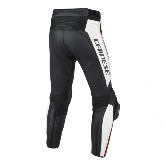 Dainese Leather Pants - Misano Black White Red